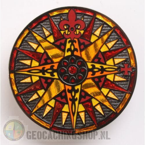 Compass Rose Geocoin 2010